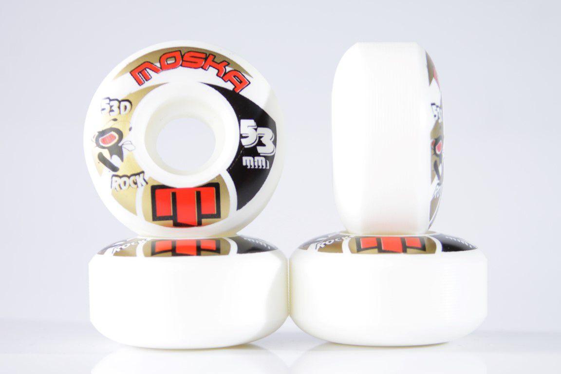 Roda Moska - Sem Miolo White Rock 53mm  - No Comply Skate Shop