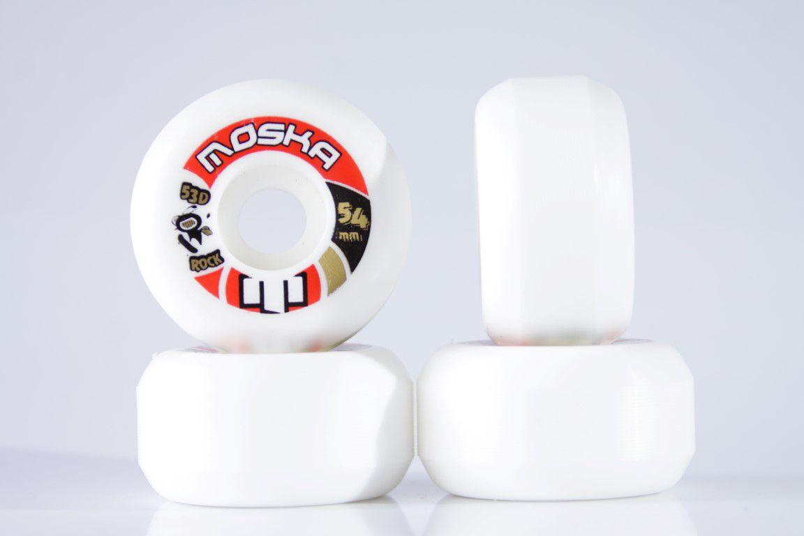 Roda Moska - Sem Miolo White Rock 54mm  - No Comply Skate Shop