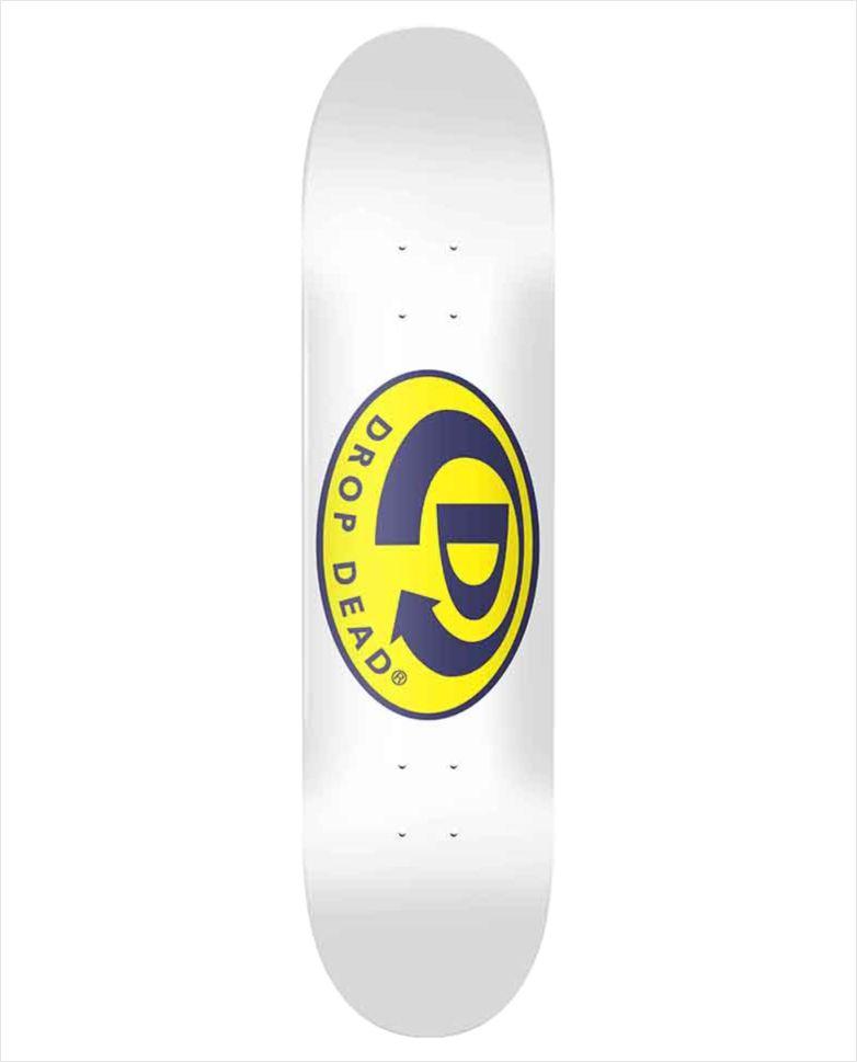 "Shape Dropdead - Heat Transfer Classic Logo White 8""  - No Comply Skate Shop"