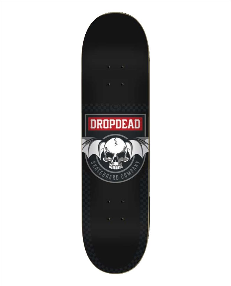 "Shape Dropdead - Heat Transfer Deadly Black 8""  - No Comply Skate Shop"