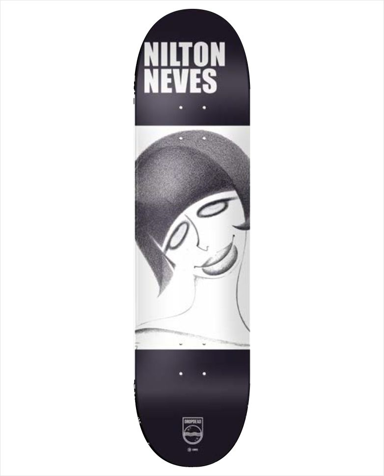 "Shape Dropdead - Heat Transfer Nilton Neves 8""  - No Comply Skate Shop"