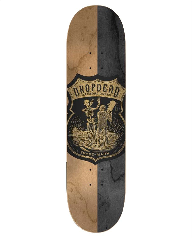 "Shape Dropdead - Heat Transfer SK8 Is Life Natural 7.75""  - No Comply Skate Shop"