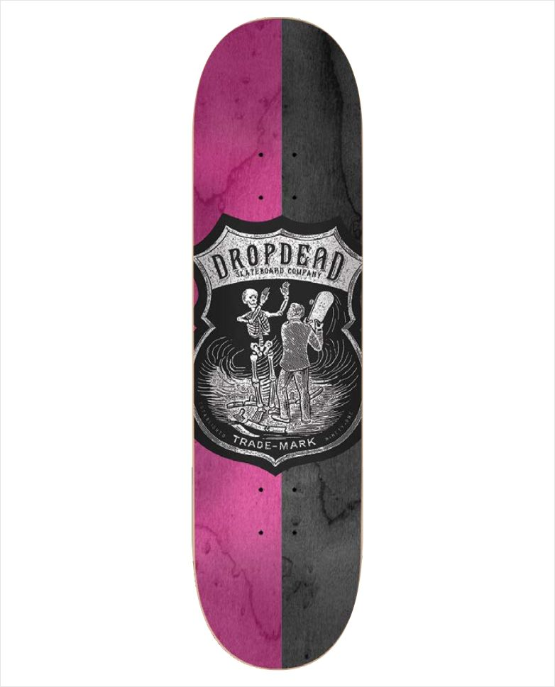 """Shape Dropdead - Heat Transfer SK8 Is Life Rosa 8.1""""  - No Comply Skate Shop"""