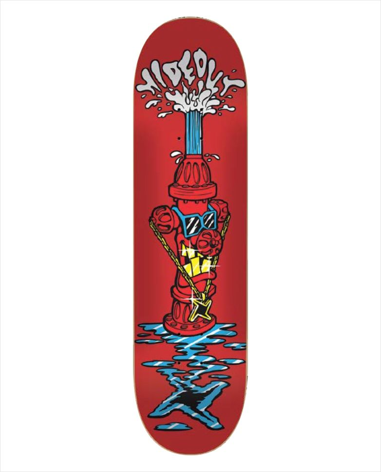 "Shape Hideout - Heat Transfer Hidrante Vermelho 8.1""  - No Comply Skate Shop"