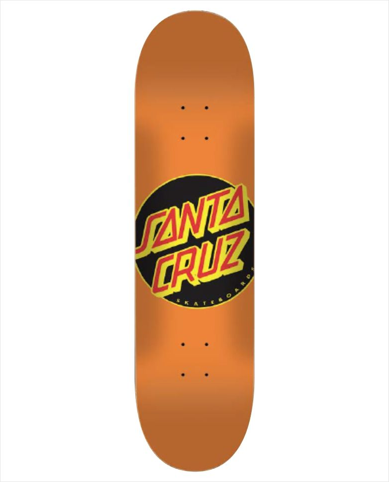 "Shape Santa Cruz - Maple Classic Dot Orange 8""  - No Comply Skate Shop"