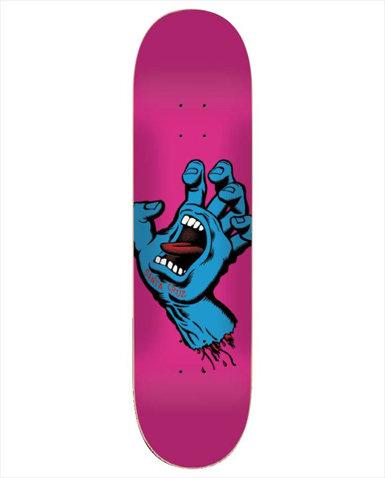 "Shape Santa Cruz - Maple Screaming Hand Pink 8""  - No Comply Skate Shop"