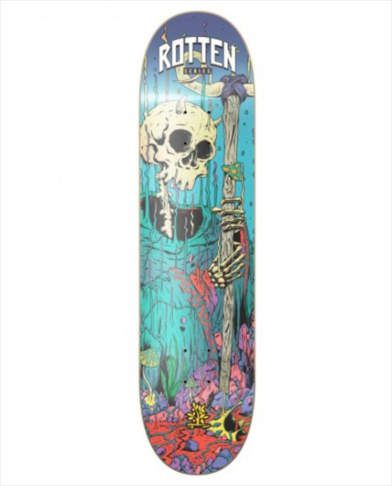 "Shape Wood Light - Wood Eight Rotten Azul 8.0""  - No Comply Skate Shop"