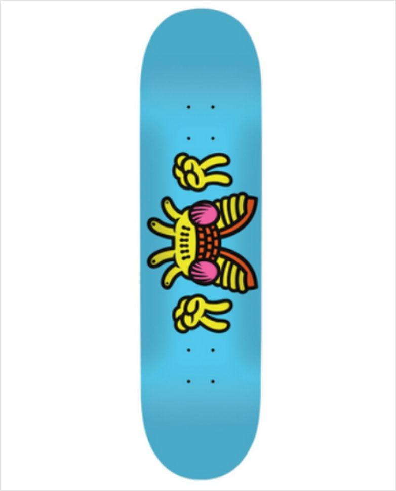 "Shape Yerbah - Marfim Heat Transfer Moscão Blue 8.25""  - No Comply Skate Shop"