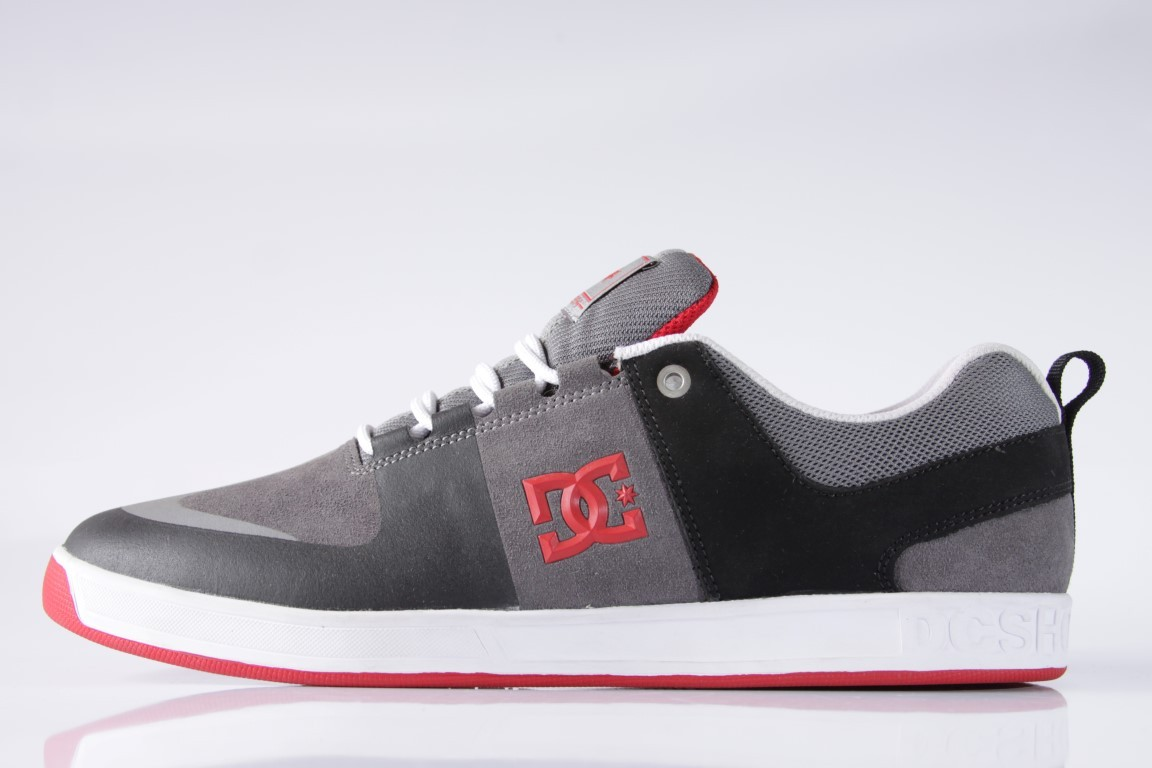 f011b4822e Tênis DC Shoes - Lynx Prestige S Black Grey Red - No Comply Skate ...