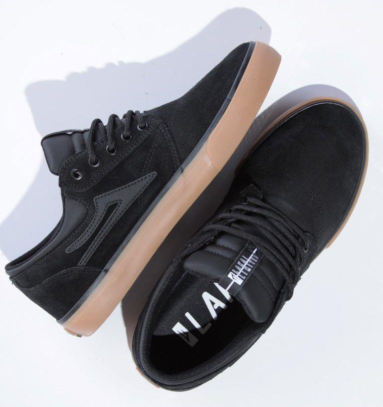 Tênis Lakai - Griffin SD Suede Black/Gum  - No Comply Skate Shop