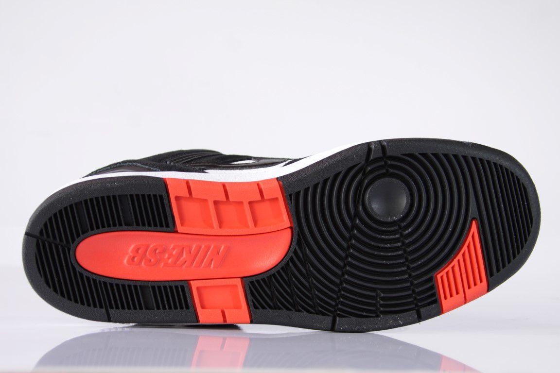 Tênis Nike SB - Air Force II Low Black/White-Habanero Red  - No Comply Skate Shop