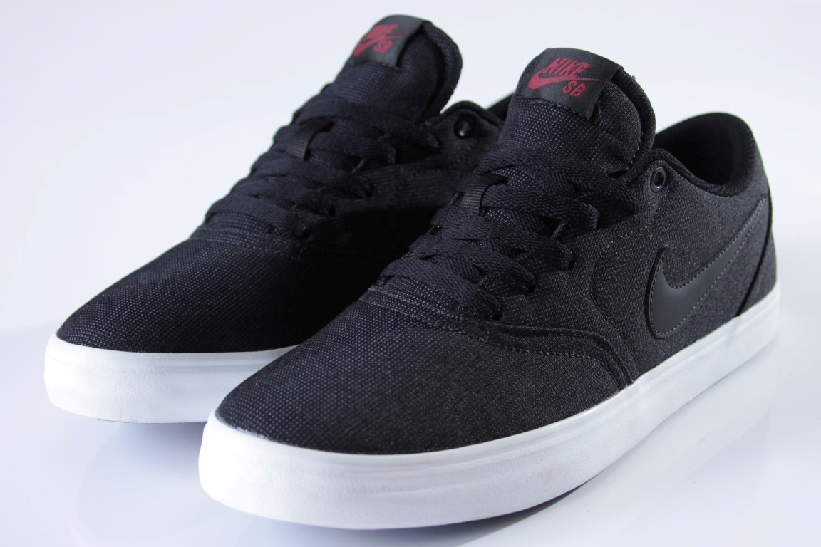 bf8c1eafdae ... Tênis Nike SB - Check Solar Canvas Black Black-Team Red - No Comply ...