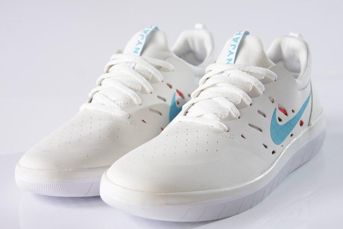 Tênis Nike SB - Nyjah Free Summit White/Lt Blue Fury  - No Comply Skate Shop