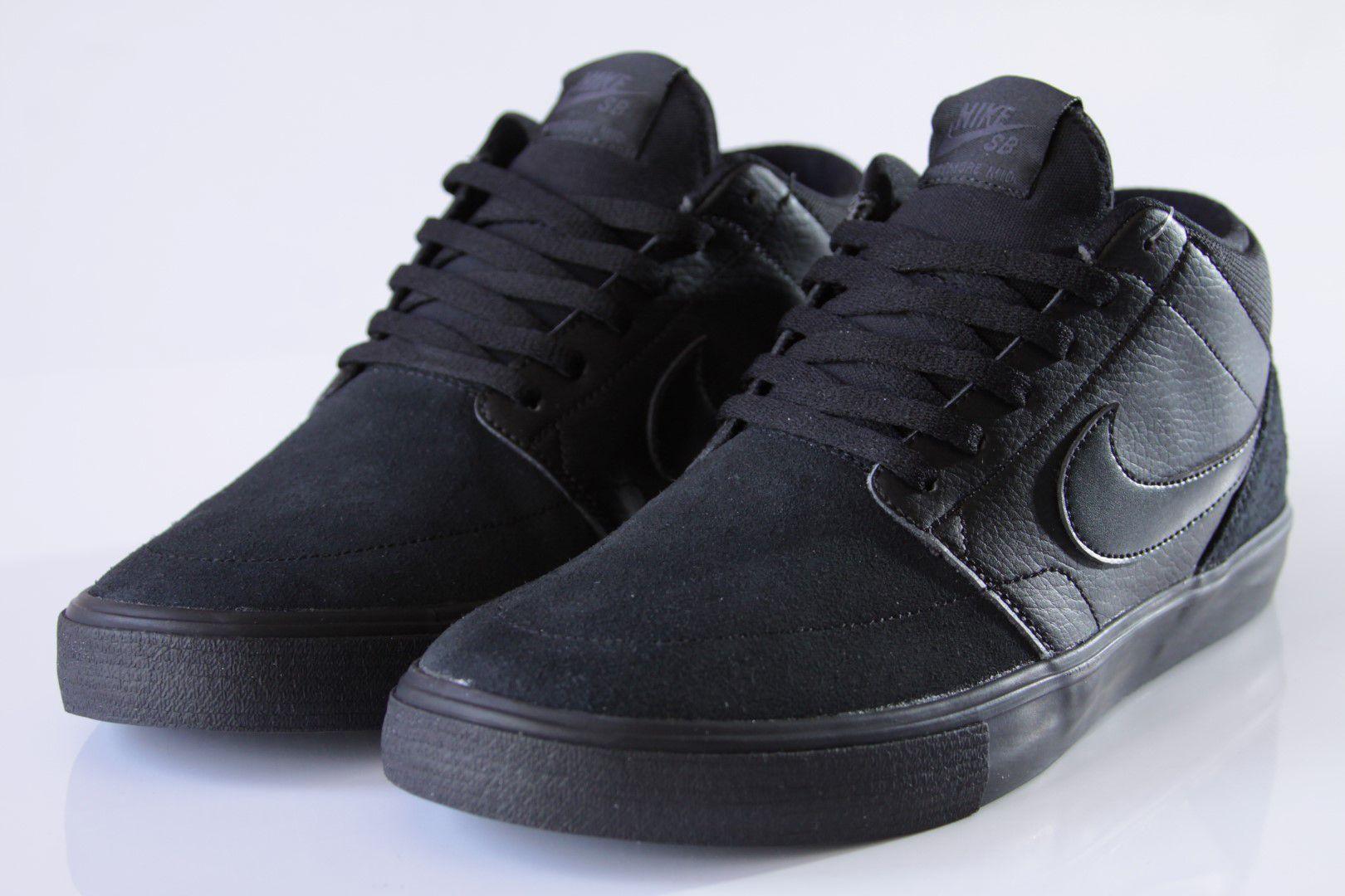 Tênis Nike SB - Portmore II Solarsoft Mid Black/Black-Anthracite  - No Comply Skate Shop