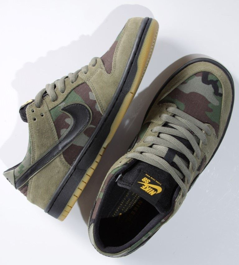 Tênis Nike SB - Zoom Dunk Low Pro Medium Olive/Black-Gum  - No Comply Skate Shop