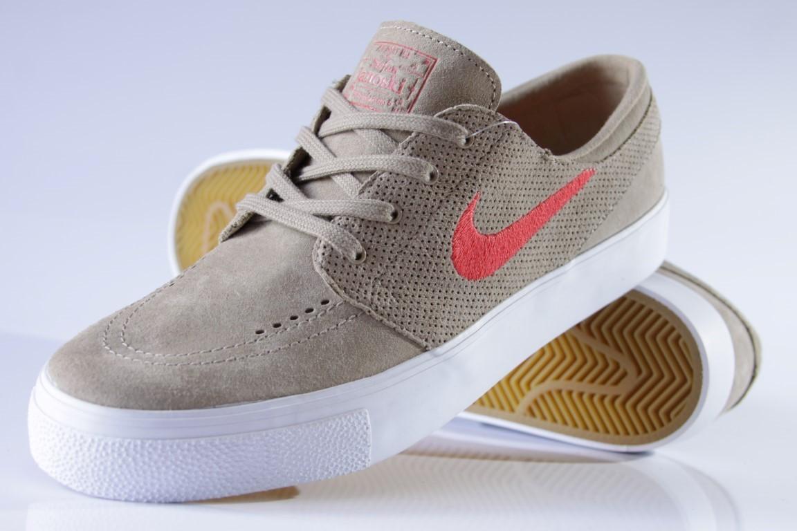Tênis Nike SB - Zoom Stefan Janoski HT Khaki/Track Red  - No Comply Skate Shop