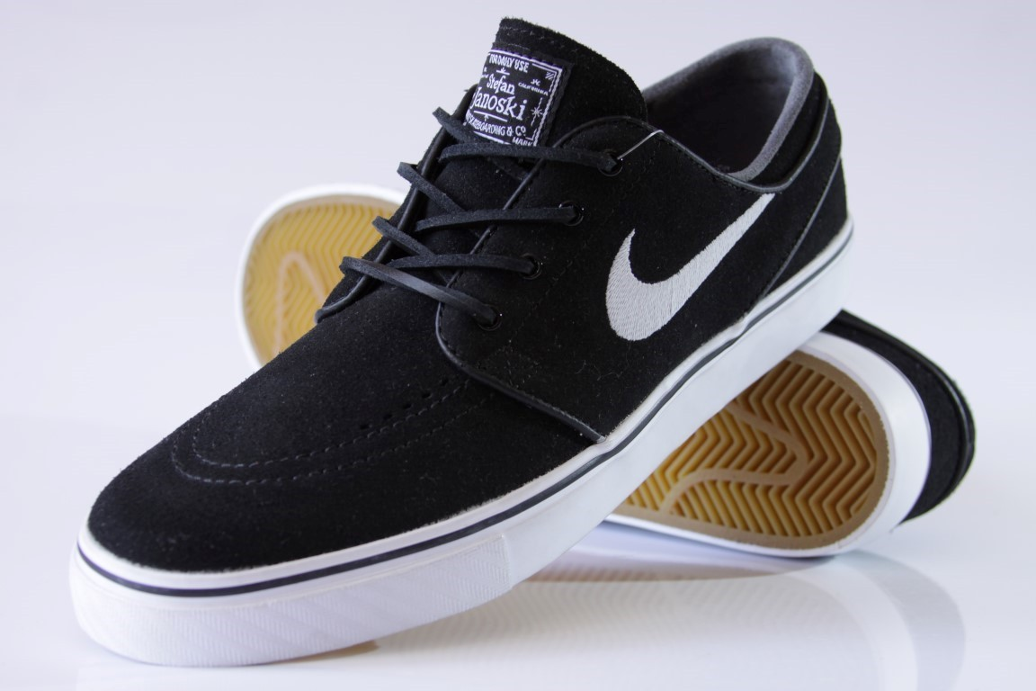 Tênis Nike SB - Zoom Stefan Janoski OG Black/White-Gum  - No Comply Skate Shop
