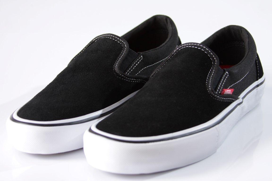Tênis Vans - M Slip On Pro Black/White/Gum  - No Comply Skate Shop