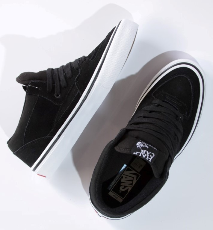 Tênis Vans - MN Half Cab Pro Black/Black/White  - No Comply Skate Shop