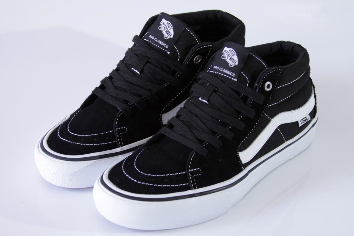 49e5663a4 ... Tênis Vans - MN SK8-Mid Pro Black White - No Comply Skate Shop ...