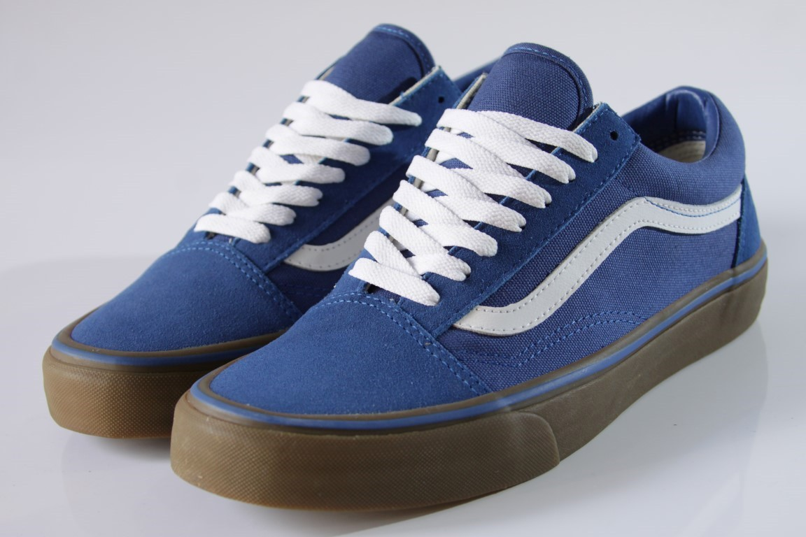 Tênis Vans - Old Skool (Gumsole) Olympian Blue/Medium Gum  - No Comply Skate Shop