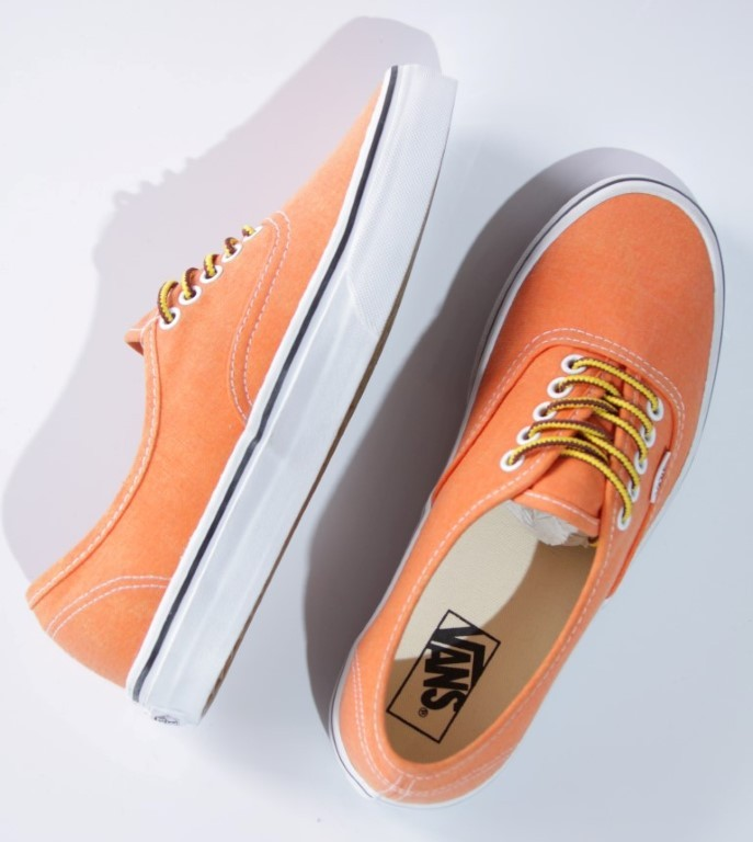 Tênis Vans - U Authentic Vibrant Orange (Washed)  - No Comply Skate Shop