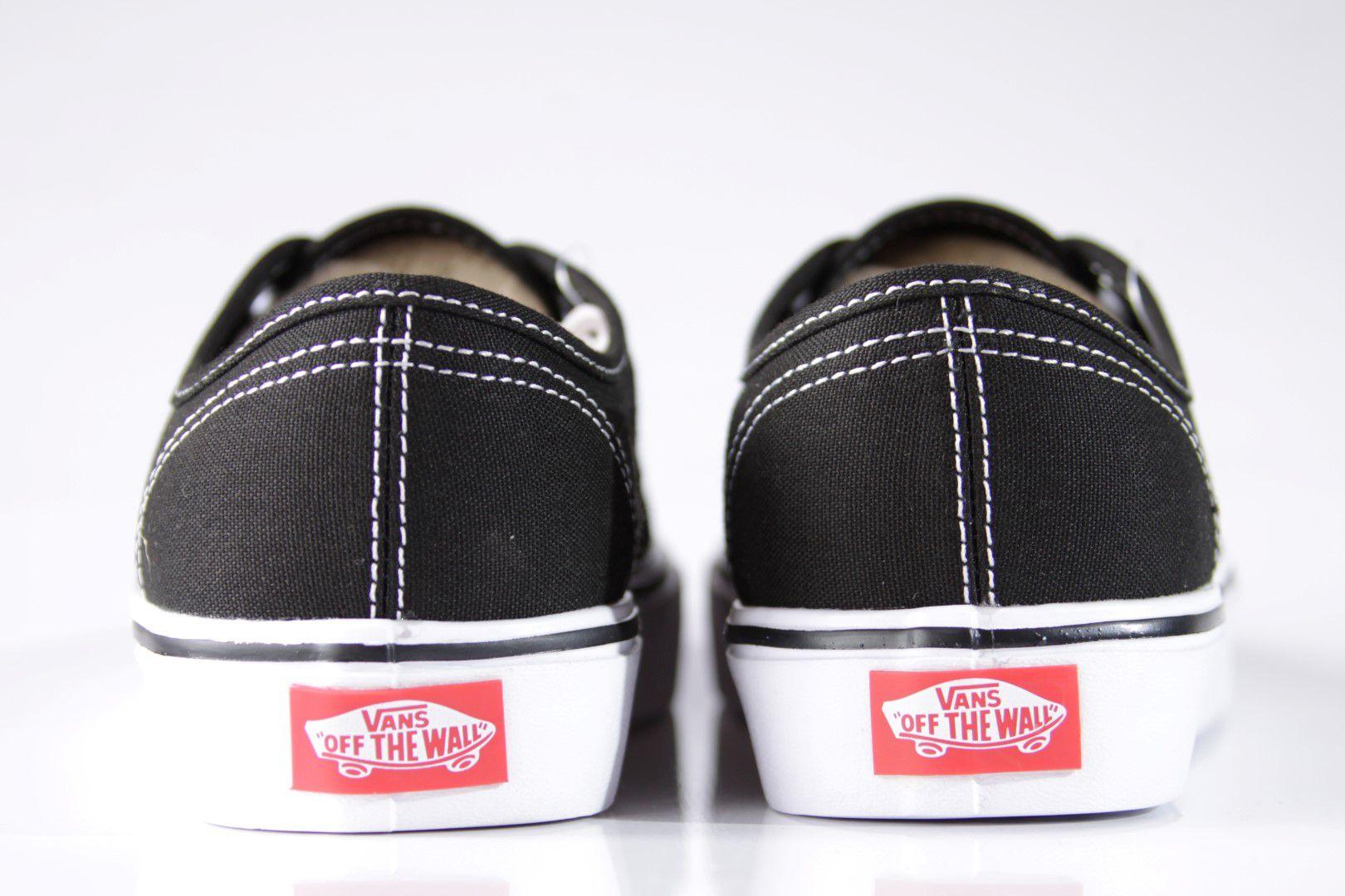 Tênis Vans - UA Authentic Core Lite (Canvas) Black/White  - No Comply Skate Shop