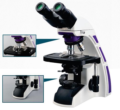 Microscópio Biológico Binocular de Ótica Infinita Planacromático