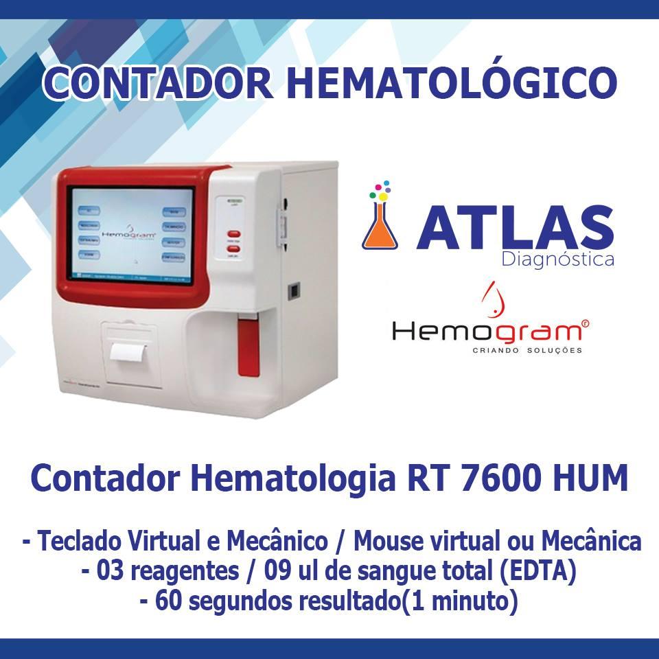 Contador Hematologia VETERINARIO RT 7600  Digital
