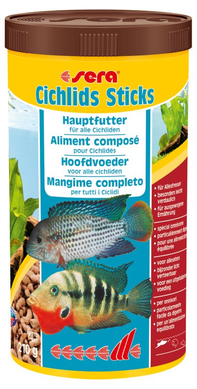 Ração Sera Ciclideo Cichlid Sticks 210gr  - KZ Power