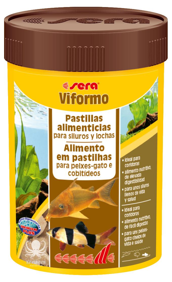 Ração Alimento Peixes Fundo Sera Viformo Botia Corydora 68gr  - KZ Power