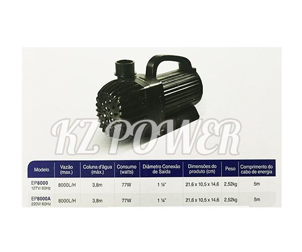 Bomba Recalque eletronica Mydor Ecco 8000 L/h. 127v.  - KZ Power