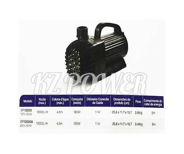 Bomba Recalque eletronica Mydor Ecco 12.000 L/h. 127v.  - KZ Power