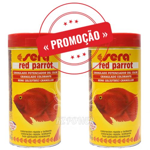 Ração Alimento Peixes Sera Red Parrot Peixes Papagaio 2 potes de 80gr  - KZ Power