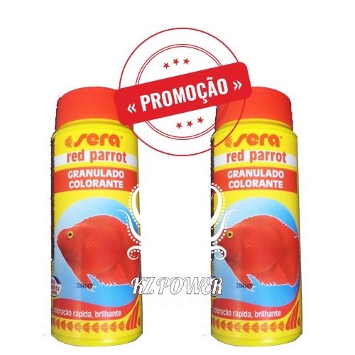 Ração Alimento Peixes Sera Red Parrot Peixes Papagaio 2 potes de 150gr  - KZ Power