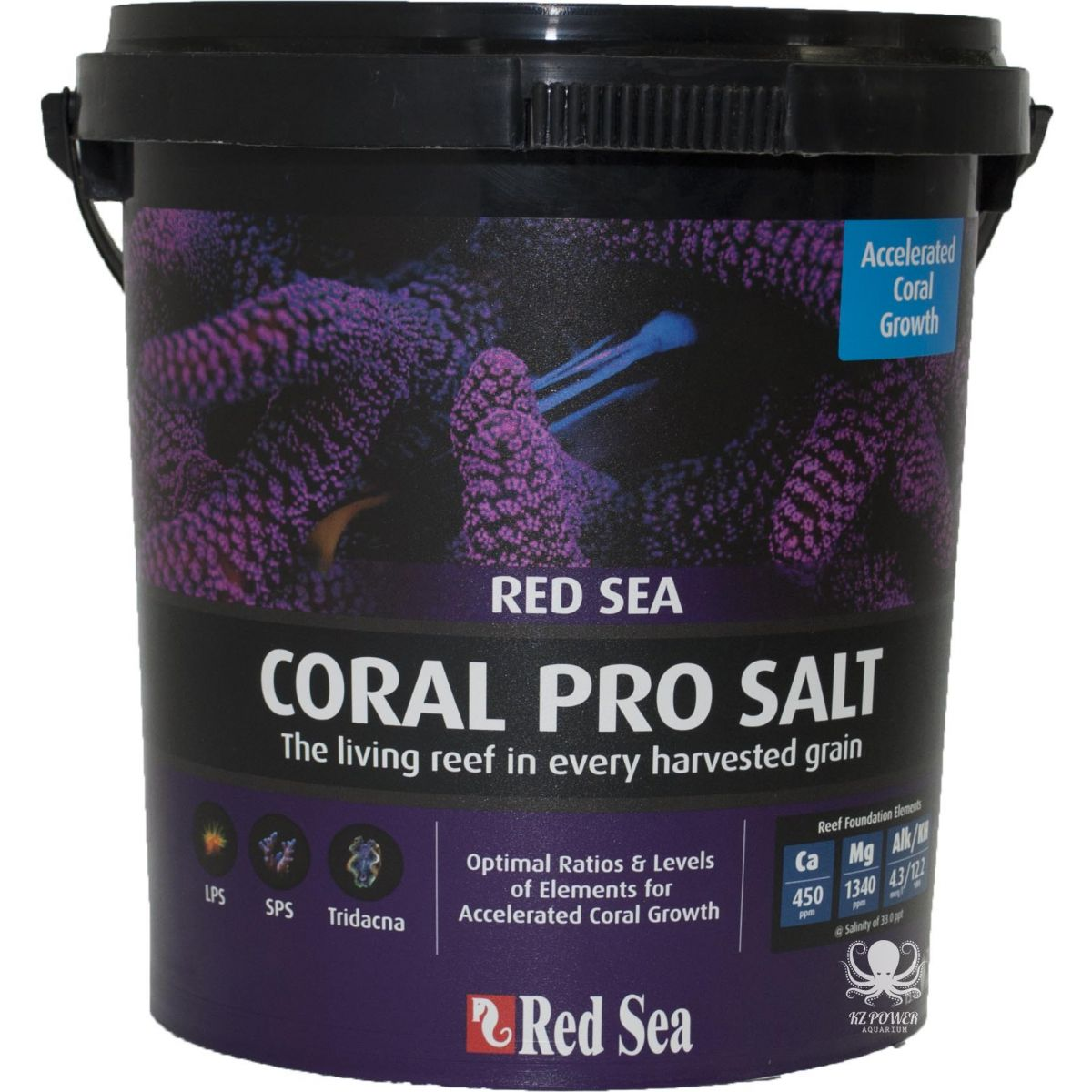 Sal Red Sea Coral Pro - Balde Com 7 Kilos Faz 220 Litros  - KZ Power