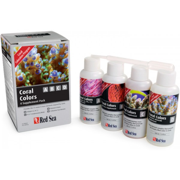 Red Sea RCP Coral Colors Kit 4 x 100ml A/B/C/D  - KZ Power