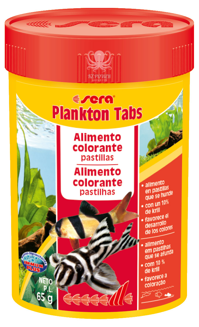Ração Sera Plankton Tabs 65gr ( 275 pastilhas )  - KZ Power