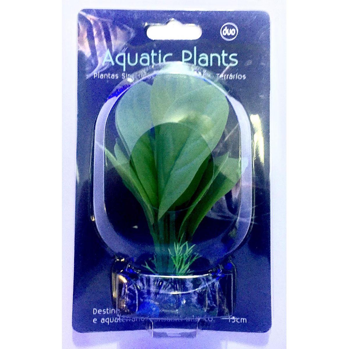 Planta Artificial P/ Aquarios Eva Anubia Cordifolia 13cm Soma 064557   - KZ Power