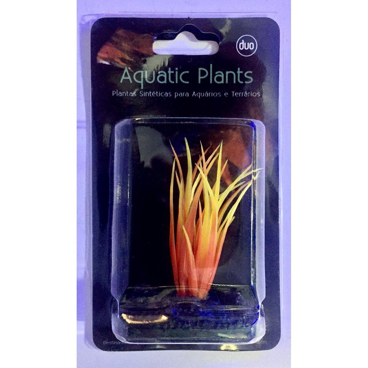 Planta Artificial P/ Aquarios Eleocharis Laranja 4cm Soma 040268  - KZ Power