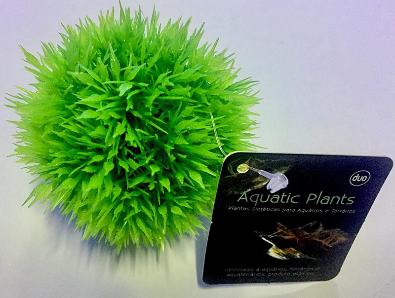Planta Artificial P/ Aquarios Musgo Ball Verde 6cm Soma 050617  - KZ Power