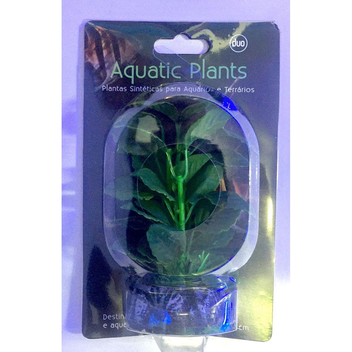 Planta Artificial P/ Aquarios Silk Echinodorus Cordifolius 13cm Soma 071007  - KZ Power