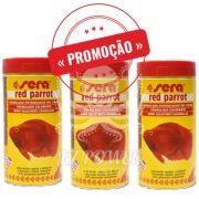 Ração Alimento Peixes Sera Red Parrot Peixes Papagaio 3 potes de 80gr