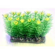 Planta Artificial P/ Aquarios Tapete C/ Flor Amarela 6cm Soma 071005