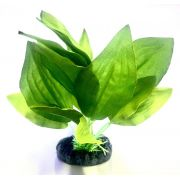 Planta Artificial P/ Aquarios Silk Echinodorus Verde 20cm Soma 064512