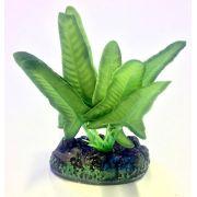 Planta Artificial P/ Aquarios Silk Ninfeia Verde 4cm Soma 064532