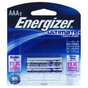 2 Pilha AAA 1.5 Lithium Energizer Litio Ultimate Palito