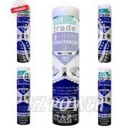 5 tubos Siltrade Silicone Manutenção RTV 280gr Incolor