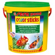 Ração sera pond color sticks carpas e kinguios 1,5kg