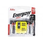 Pilha Alcalina AA Pequena Energizer Max - Leve 6 Pague 4